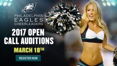 philadelphia eagles cheerleader auditions 2017
